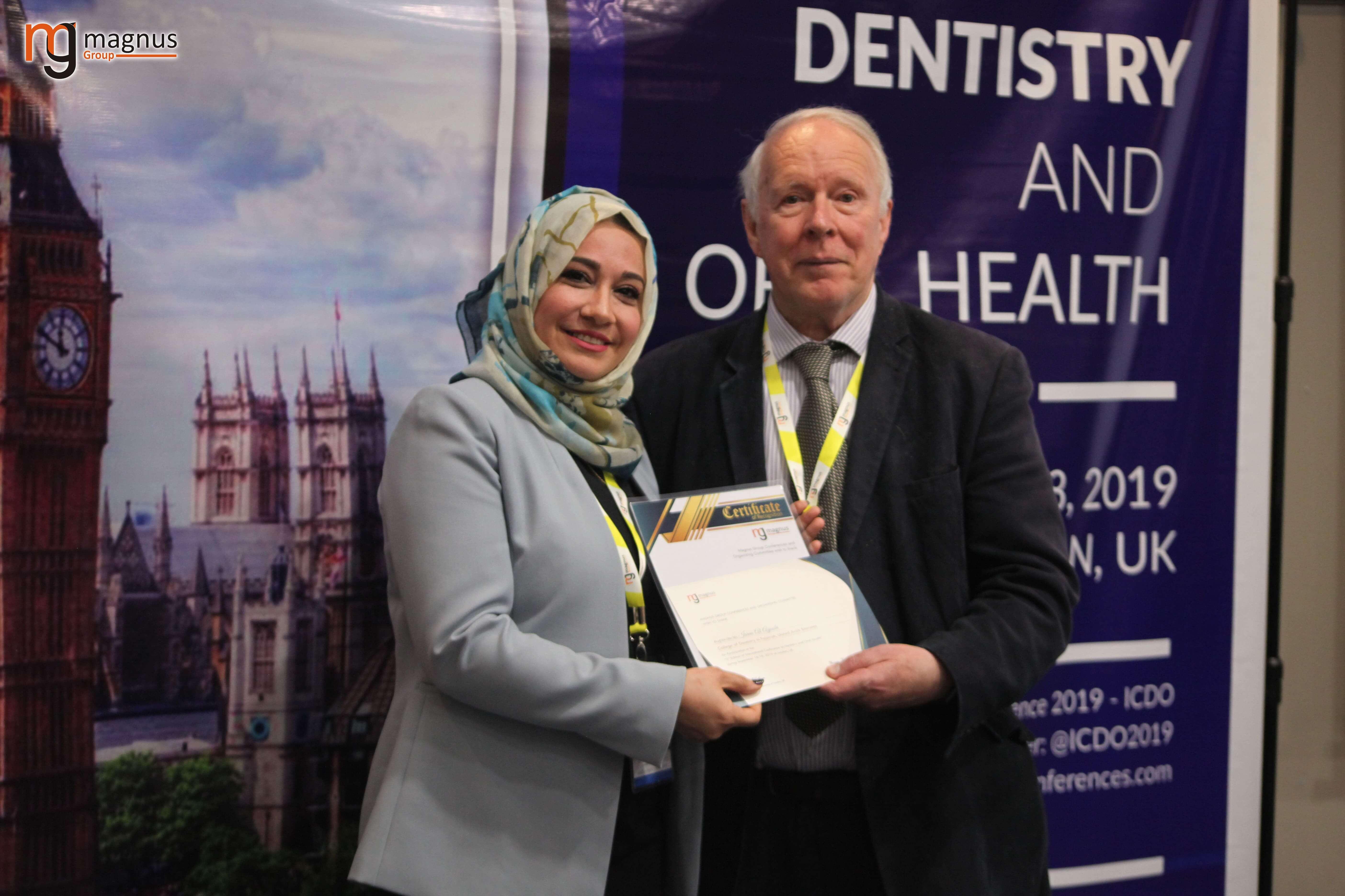 International Dental Conferences- Israa Awad Bahaa Al Deen Al Aubi